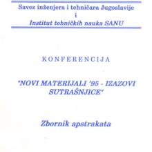 """Konferencija """"Novi materijali '95 - izazovi sutrašnjice"""", 1995"""