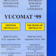 Third Yugoslav Materials Research Society Conference Yucomat '99