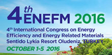 4th International Congress on Energy Efficiency and Energy Related Materials (ENEFM)