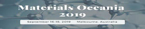 International Conference on Materials Science and Engineering 2019,September 16-18, Pullman Melbourne Albert Park, Australia