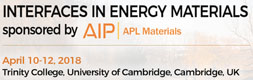 Interfaces in Energy Materials 2018