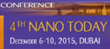 4th Nano Today Conference, December 6-10, 2015 | JW Marriott Marquis Hotel Dubai, UAE